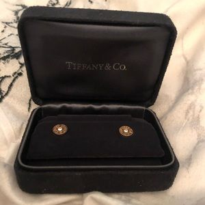 Tiffany & Co. 1837 Rose Gold Earrings